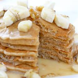 Banana Pancakes with Warm Maple Glaze