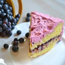 Blueberry Buttercream Cake