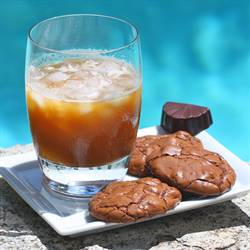 Chocolate Iced Coffee and Cookies