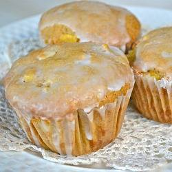 Peach & White Chocolate Chip Muffins