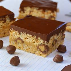 Triple Peanut Butter Krispie Treats