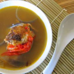 Potato and Tomato Onion Fish Soup