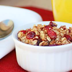 Cranberry Walnut Baked Oatmeal