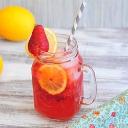 Strawberry Meyer Lemonade Spritzer