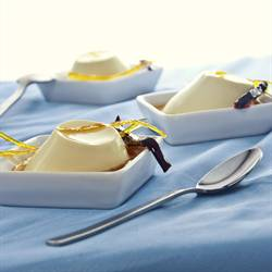 Dulse-seaweed panna cotta