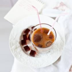 Sweet Iced Coffee and Coffee Jelly