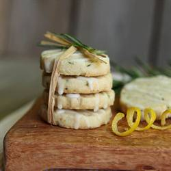 Rosemary Shortbread with Lemon Glaze