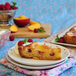 Peach And Raspberry Frangipane Tart