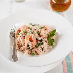 Seafood Risotto in a Steamer