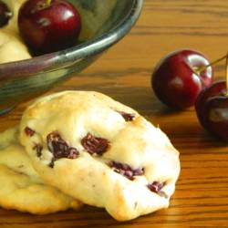 Sour Cream & Cherry Cookies