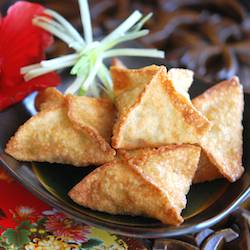 Crispy Crab and Avocado Wontons