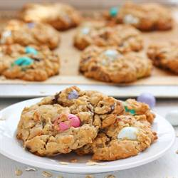 Peanut Butter Oatmeal Candy Cookies