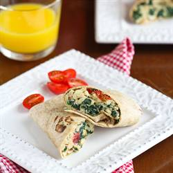 Scrambled Egg Wrap w/Spinach & Feta
