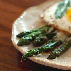 Asparagus Parmesan with Fried Egg