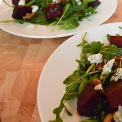 Arugula, Beet, and Bleu Cheese Salad