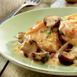 Chicken with White Wine & Cream Sauce