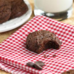 Whole Wheat Double Chocolate Cookies