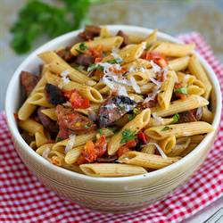 Roasted Tomato & Chicken Sausage Pasta