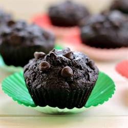 Orange-Scented Dark Chocolate Muffins