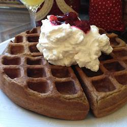 Gingerbread Waffles with all the Fixins