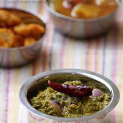 Spinach Toor Dal Chutney