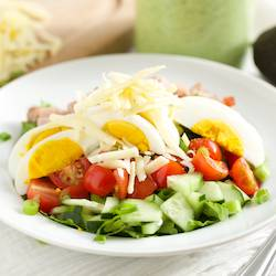 Chef's Salad with Avocado Ranch Dressing