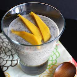 Chia Seed Pudding with Fresh Mango