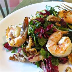 Arugula Salad with Grilled Shrimp