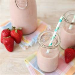 Vegan Strawberry Almond Milk
