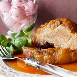 Pork neck with honey and ginger