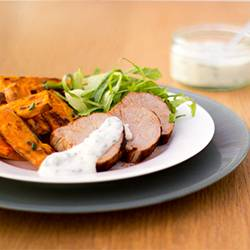 Paprika Pork & Sweet Potato Wedges