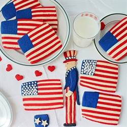 Flag Cookies and Uncle Sam