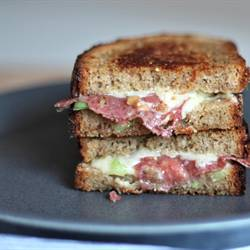 Salami Grilled Cheese