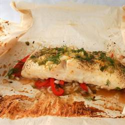 Asian Flavored Baked Halibut