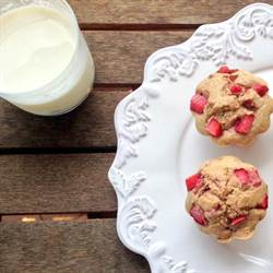 Strawberry Muffins with a hint of Mint