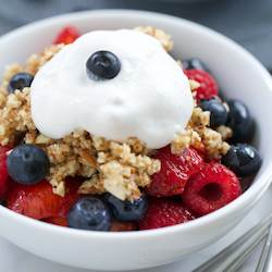No-Bake Triple Berry Crisp