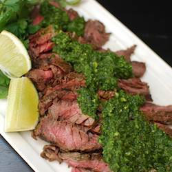 Chimichurri Skirt Steaks