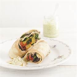 Crepes with grilled vegetables