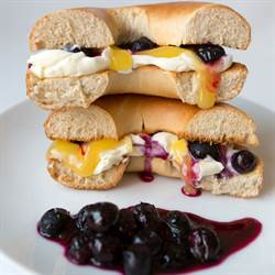 Blueberry Lemon Cheesecake Bagel