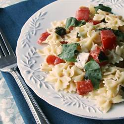 Tomato Brie Pasta with Fresh Basil