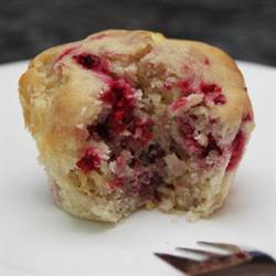 Raspberry White Chocolate Muffins