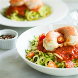 This Zucchini noodles with Shrimp