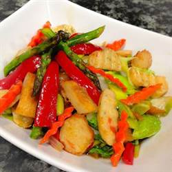 Stir Fried Fish Cakes with Veggies