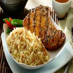 Asian Style Pork Chops With Rice Pilaf (1)