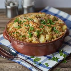Creamy Pork and Apple Bake