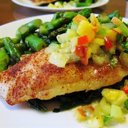 Swai Fillets with Peach Relish (3)