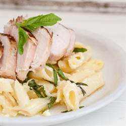 Grilled Chicken with Basil Lemon Pasta