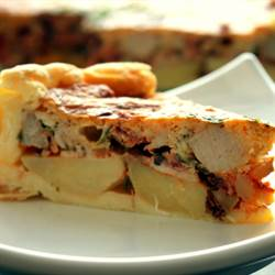 Meat and Cheese Cake