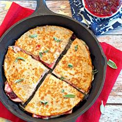 Thanksgiving Leftovers Quesadilla
