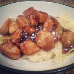 Orange Chicken and Egg Noodles (1)